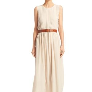 Theory 100% Silk Midi Dress / No Belt